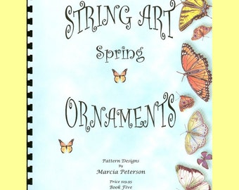 String Art PATTERN Book Five, 8 Spring Patterns in PDF Instant Digital Download