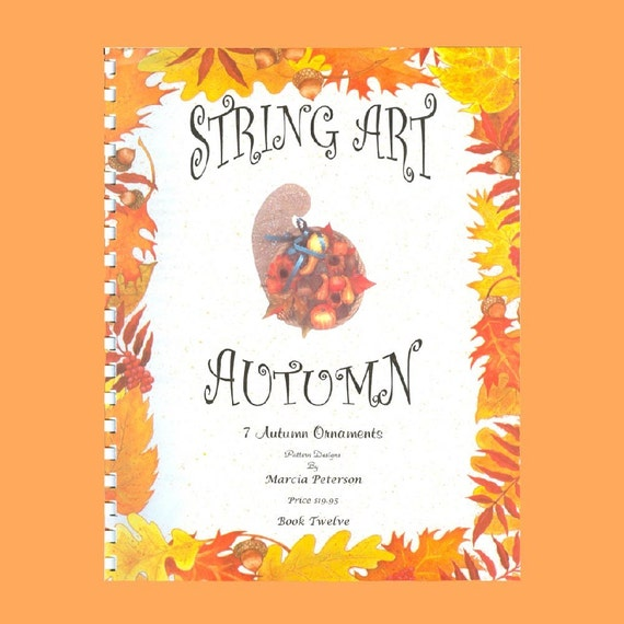 Autumn String Art PATTERN Book 12 in DIGITAL DOWNLOAD