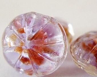 Pumpkin shaped China glass beads