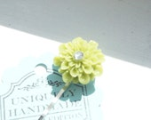 SOLD SOLD SOLD Floral - Flower Dusty Grey Bobby Pin - great for spring