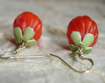 Fresh Picked From The Vine Tomato Earrings