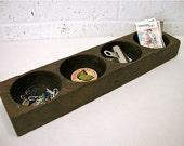 Industrial Wooden Organizer tray