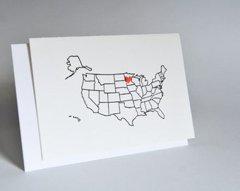 6 Love From Minnesota Note Cards Letterpress Printed