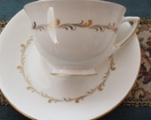 Teacup Tea cup and Saucer  Made In Engand Royal Doulton and Rondo Give a Tea Cup and Tea Bags DIY Birthday Present Idea