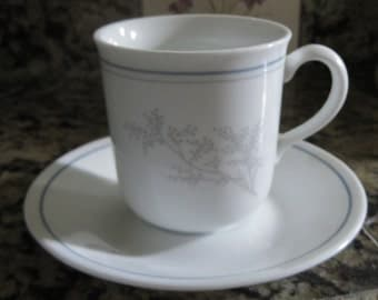 Corning Ware Coffee Te Cup and Saucer Vintage Replacement Tea Cups