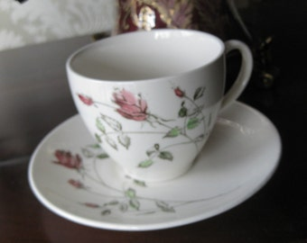 Only a  ROSE Made in England Tea Cup and Saucer VINTAGE Just add some Tea Bags and DIY decor Gift