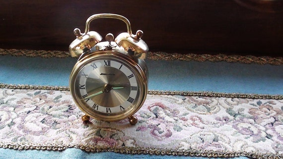 Vintage Alarm Clock with Illuminated Hands by WEST GERMANY  Working Mechanical On SaLe Now