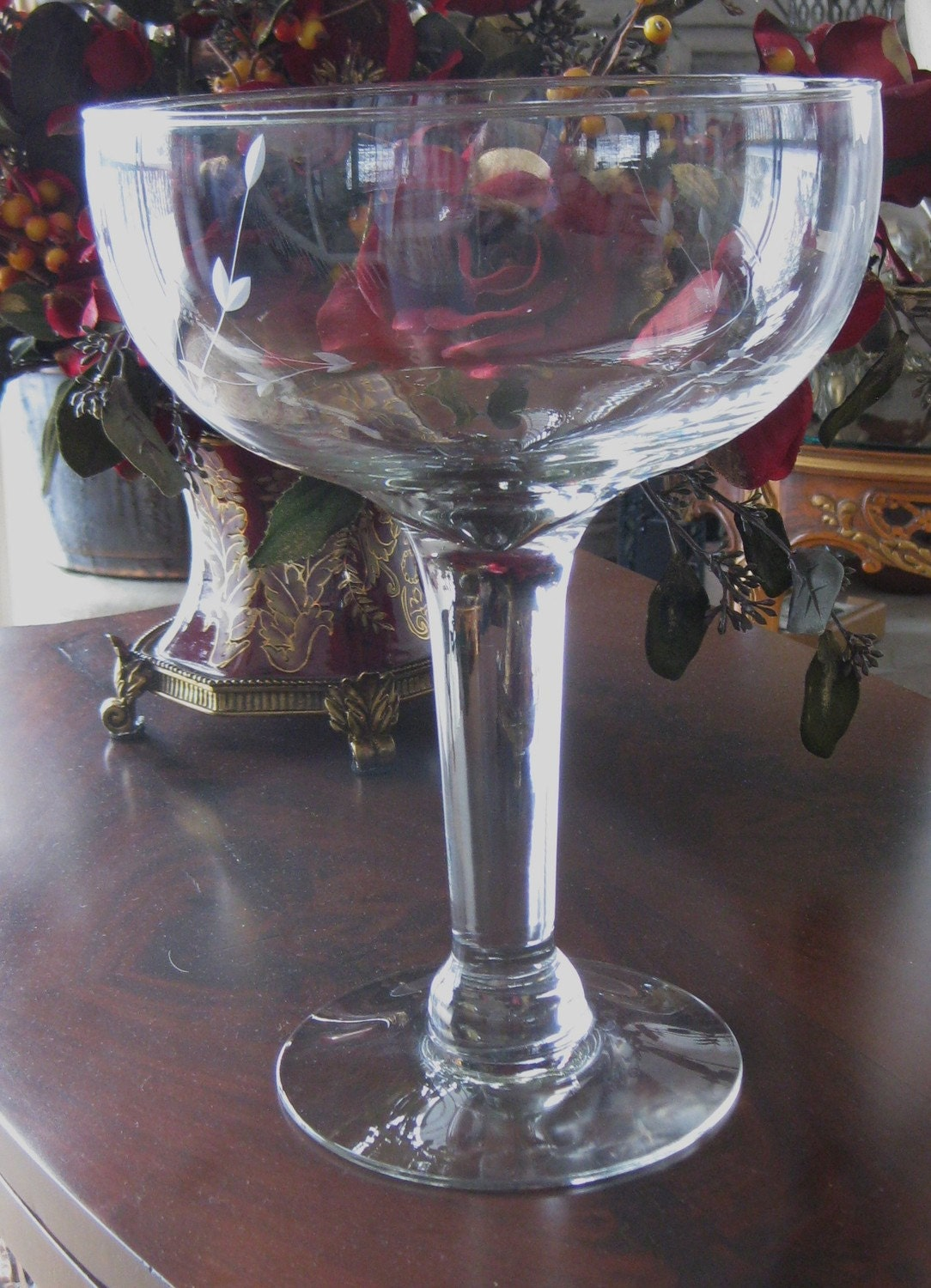 Princess house crystal heritage vintage huge champagne for Princess housse