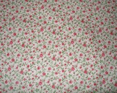 Green, Red and Pink Bedford Calico Cotton Fabric by Foust Textiles
