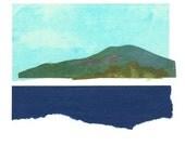 Landscape River Collage Fine Art Giclee Print by Kristen DeFontes