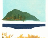Landscape Collage River Wide Fine Art Giclee Print by Kristen DeFontes