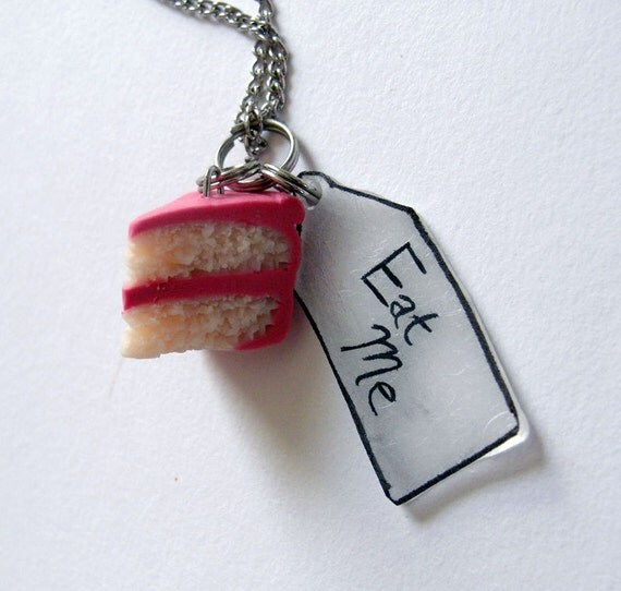Eat Me - Pink Cake Necklace