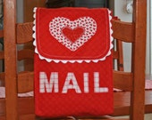 Valentine bag chair backer--perfect mailbox for kids Valentine deliveries