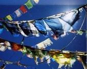 Prayer Flags Chui Gompa, Lake Manasovar Tibet
