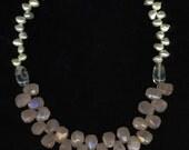 Rose Quartz Pearl Necklace