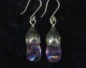 Lotus Amethyst Earrings