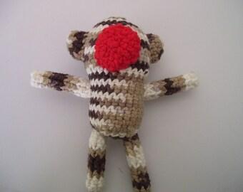 Cotton Amigurumi Sock Monkey plushie Dog toy