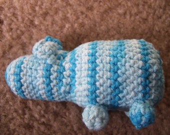 Amigurumi Hippo catnip toy