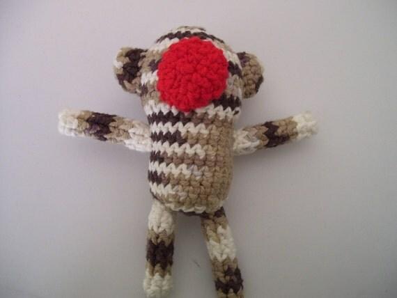 Amigurumi Sock Monkey catnip toy
