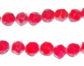 20 Vintage Faceted Red Czech Glass Beads from old store stock
