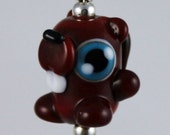 Buck the Cute Beaver Lampwork Glass Necklace and Cell Charm