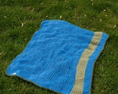 Garden Picnic Soft Knit Blanket - Custom Made to Order - Free Shipping