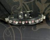Leather Bondage Collar - Hello Kitty