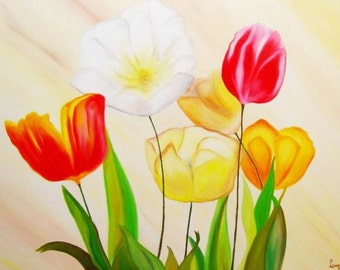 Tulips - Print on canvas