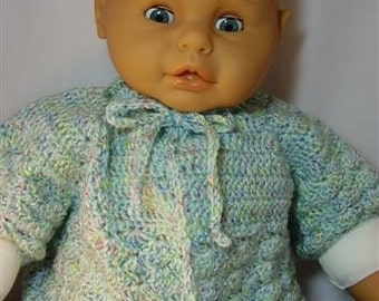 Soft Variegated Pastel Baby Sweater - 9-12 months