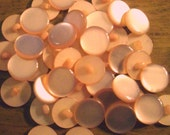 Peach vintage plastic shank button 100 lot