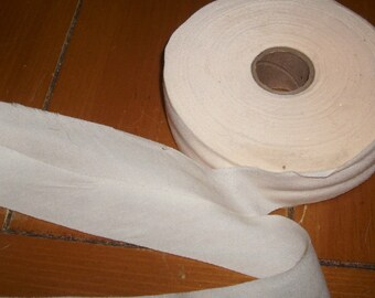 Soft Brushed Beige cotton   Bias Tape 45 yards vintage cotton 1 inch wide trim facing