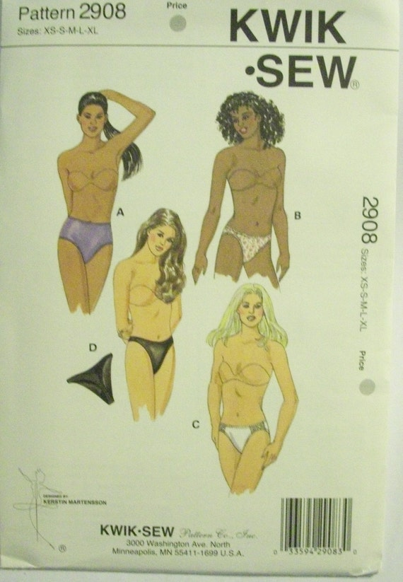 Misses panties pattern Kwik Sew 2908 size xs-xl uncut