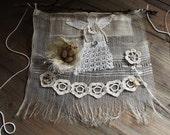 Dream Garden Angel ,bird nest ring, flower crocheted bracelet, flower necklace