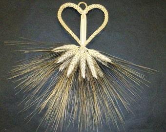 Mortiford Heart  corn dolly  wheat weaving  straw art