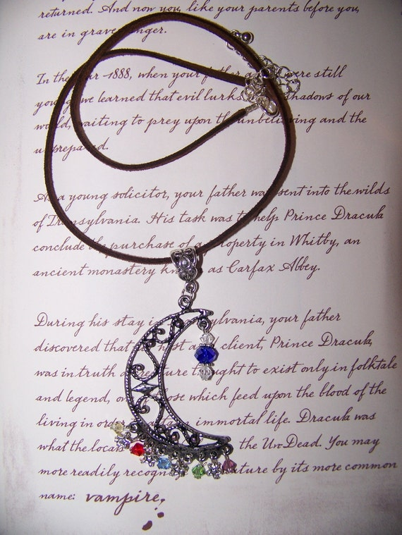 House of Night Crescent Moon Elements Necklace