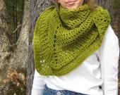 pattern only  - Lake Chargoggag crocheted shawl pdf pattern - beginner friendly