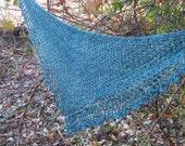 top down crochet triangle pattern - Stepping Stones beginner shawl