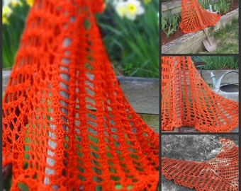 top down crochet beginner shawl : 36 on 3-6 any yarn any weight any gauge pattern only