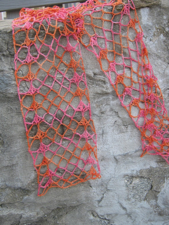 Crochet Scarf Pattern With Self Striping Yarn : Spring Stripes pdf beginner friendly crochet scarf pattern ...