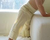 Natural Wool Jersey Longies-- Full Double Layer-- Medium