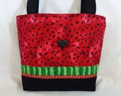 Watermelon Zippered Purse, Small