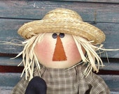 Primitive Scarecrow doll pattern, Halloween Fall decor, Halloween pattern, Raggedy doll pattern, HFTH140