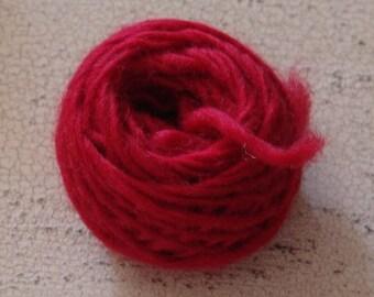 Wool Doll Hair, red doll hair, primitive doll supply, raggedy doll hair, yarn, Raggedy Red, raggedy ann hair