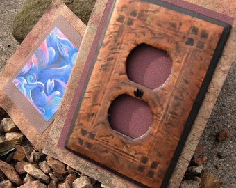 Mission Style Arts and Crafts Outlet Plate in copper tone