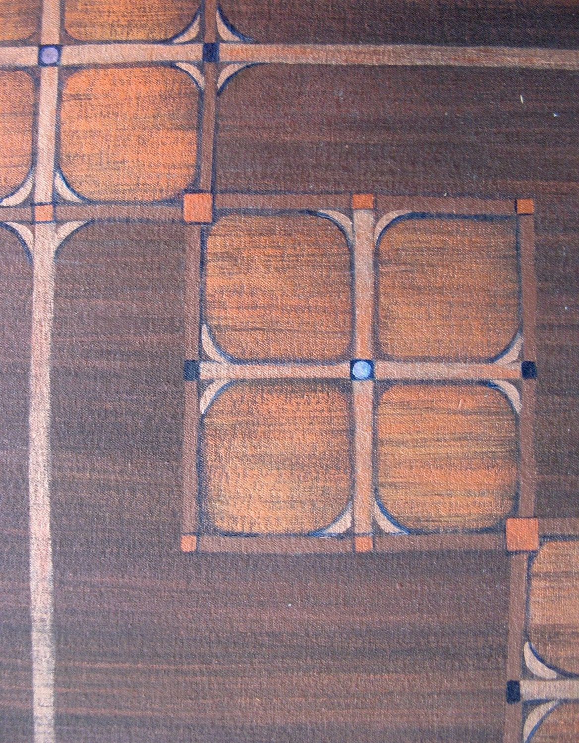 Arts And Crafts Mission Style Floorcloth Rug By Griffindesign