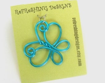 Butterfly Necklace Pendant - Choose your own Color and Size