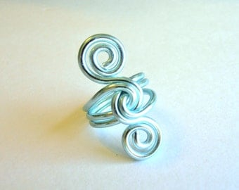 Wire S Knot Ring - Custom Made You Choose The Color
