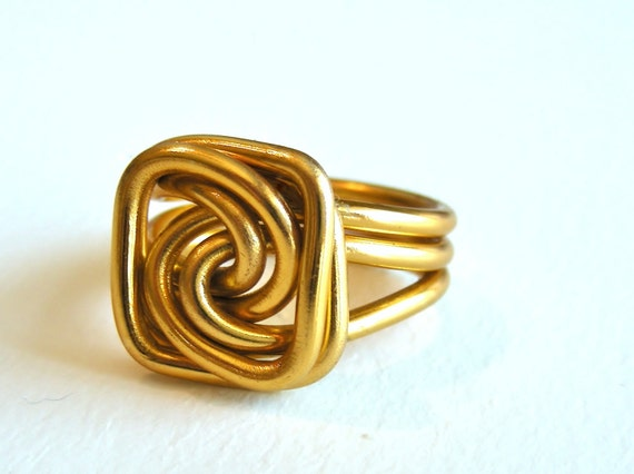 Wire Square Knot Ring Custom Made