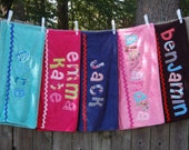 TWO Personalized Towels