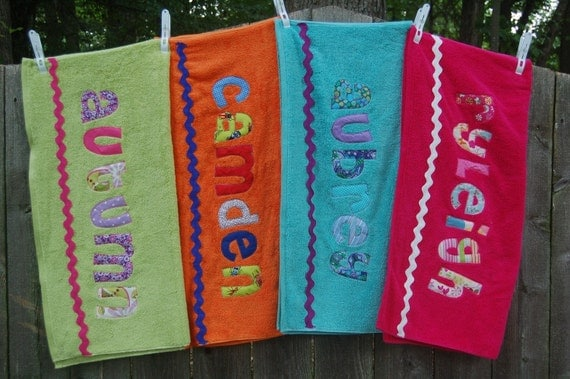 FOUR Personalized Beach Towels